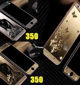 Переднее+заднее 3D защитное стекло для iPhone