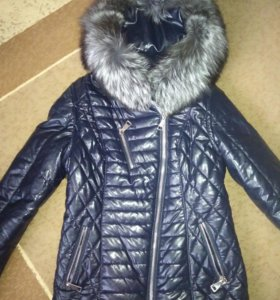 Куртка зимняя, размер 48,мех натуральный