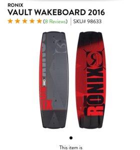 В идеальном состояни Вейкборд Ronix The Vault 144