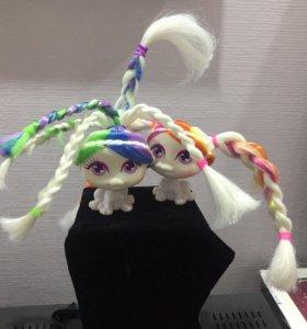 Игрушка Питомец с длинными волосами для причёсок