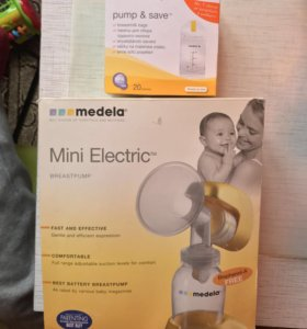 Молокоотсос Medela Mini electric + пакеты