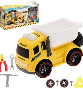 Конструктор грузовик с наб-м инструм. с эффек.