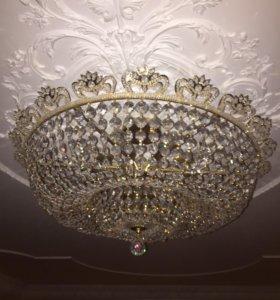 Хрустальная люстра из Чехии 15 ламп