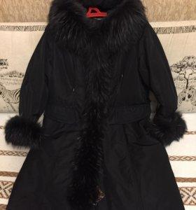 Пальто зимнее на натуральном меху