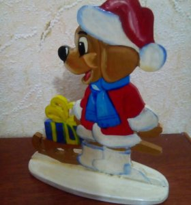 "Статуэтка ""Новогодняя собачка"""