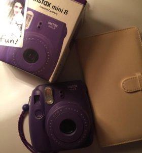 новый фотоаппарат instax mini 8 + фотоальбом