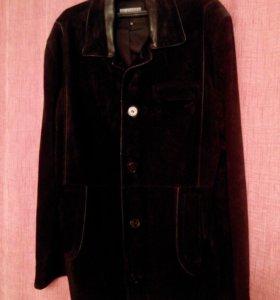 замшевый  кожаный пиджак