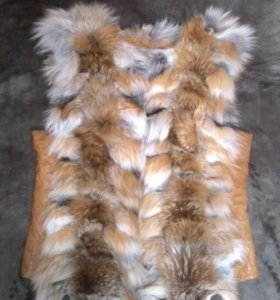 Натуральная турецкая меховая жилетка