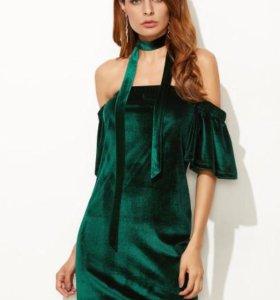 Платье велюр (новое)