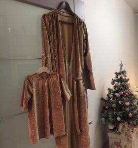 Платья для мамы и дочки, фэмилилук