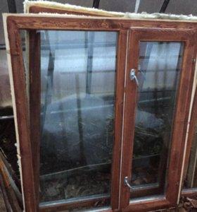 Деревянные окна 6 штук