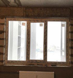 Окно с двухкамерным стеклопакетами