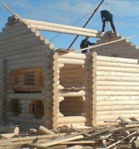 Строительство бань, домов, беседок.