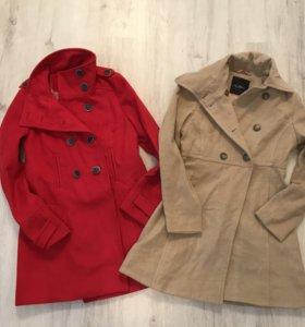Пальто Zara и Kira Plastinina