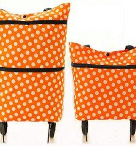 Складная сумка с выдвижными колесиками