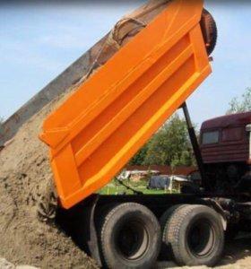 Перевозка, доставка песка, грунта.