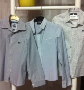 Три Рубашки для мальчика (рост 122)