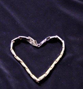 серебряный браслет почти новый