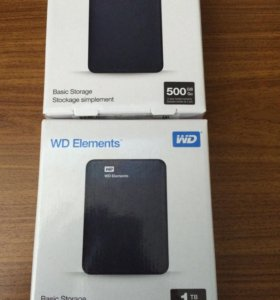Внешние HDD новые