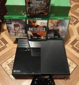 Xbox one 500gb +4игры