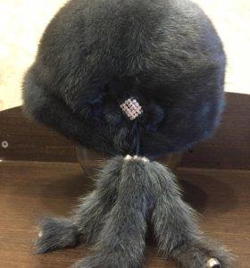 Зимняя шапка из норки