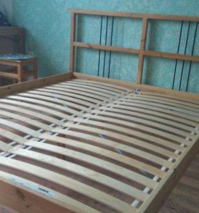Каркас кровати (IKEA) + МАТРАСЫ Б/У В ПОДАРОК