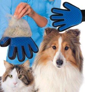 Перчатка расческа для животных