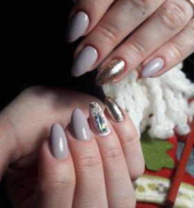 Маникюр, наращивание ногтей, покрытие гель лаком