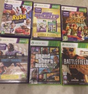 XBOX360+6 игр, геймпад и Kinect