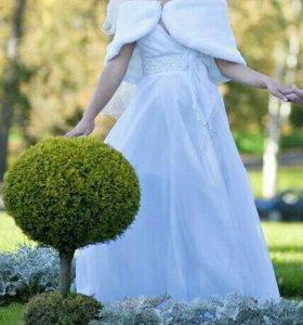 Свадебное платье, фата, накидка