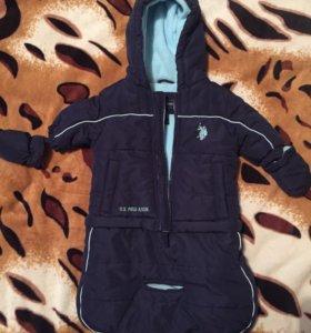 Детская куртка-комбинезон