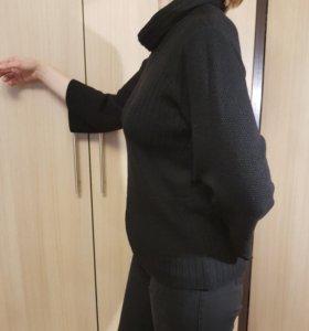 Теплый свитер (джемпер), с воротником размер 48-50