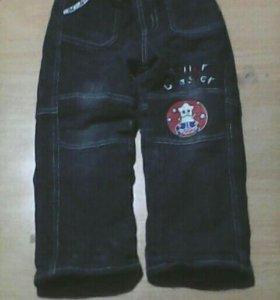 Джинсовые штаны теплые за две пары