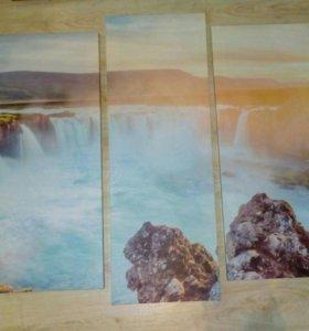 #Картина #на_холсте #Водопад