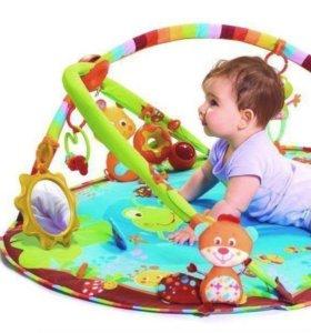Развивающий коврик tiny love+подарок пакет игрушек