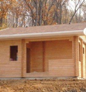 Строительство срубов из бруса, каркасные дома