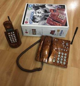 Телефон стационарный и трубка с набором lg techpho