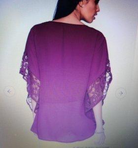 Новая блузка с кружевными деталями
