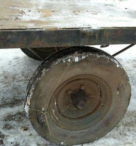 Одноосная тракторная телега