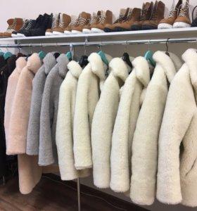 Шубы из меха шерсти овцы натуральная овчина