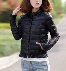 Куртка чёрная на синтепоне