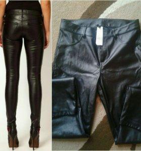 Кожаные брюки ,новые