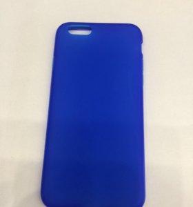 Чехол iPhone 6/6S силикон синий матовый