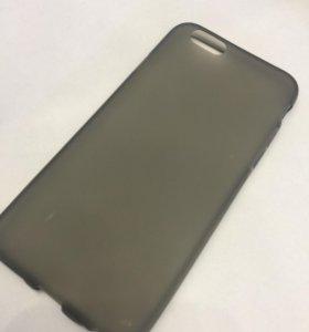 Чехол iPhone 6/6S чёрный матовый