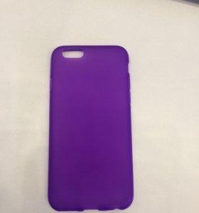 Чехол iPhone 6/6S фиолетовый матовый