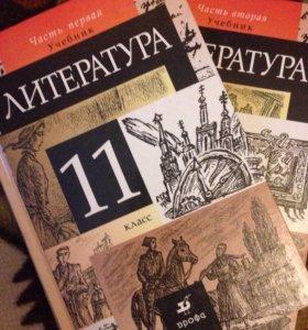 Учебники Литература 11 класс, две части