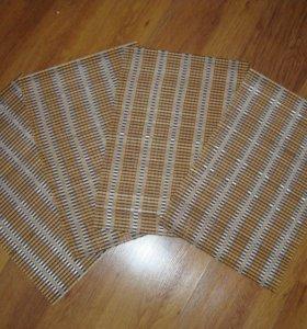 Набор бамбуковых салфеток для стола + подарок