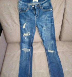 Джинсы, кожанные штаны