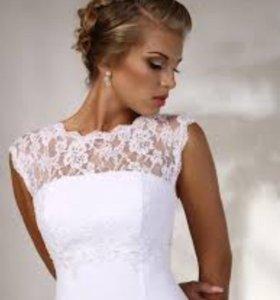 Новое свадебное платье цвета айвори.