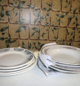 тарелки под первые и под вторые блюда